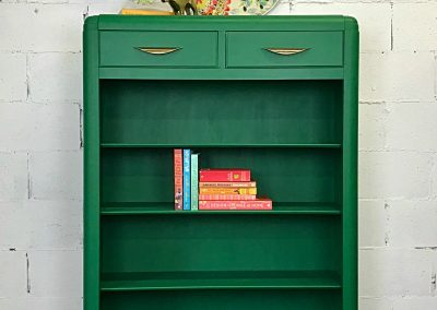 "Waterfall Art Deco Book Case – ""Jade"""