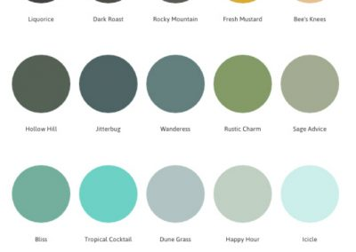 Country Chic round colour samples 3