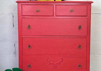 "Vintage Five Drawer 1930's Dresser – ""Poppy"""