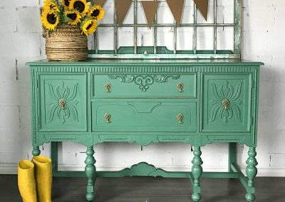 "Vintage Carved Sideboard Buffet – ""Johanna"""
