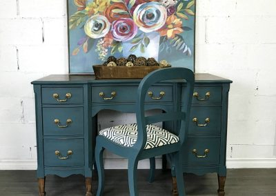 "Antique Desk and Chair – ""Ivy"""