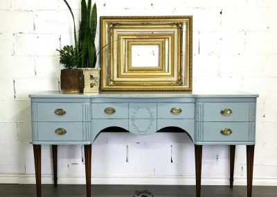 "Antique Hastings Company Sideboard – ""Flora"""