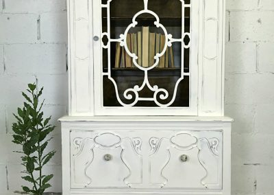 "Vintage 1930's Painted China Cabinet – ""Robin"""