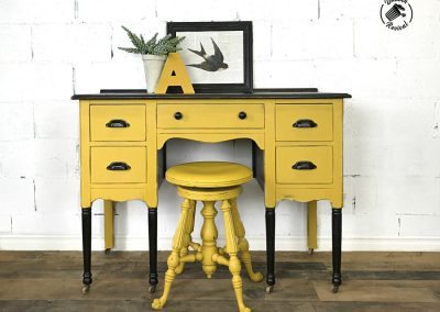 """Antique Rustic Desk and Swivel Stool- """"Annie"""""""