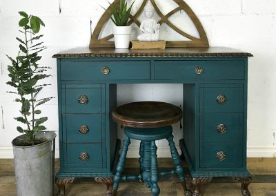 "Antique Desk and Swivel Stool – ""Archie"""