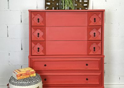 "Vintage Boho Five Drawer Dresser – ""Roxy"""